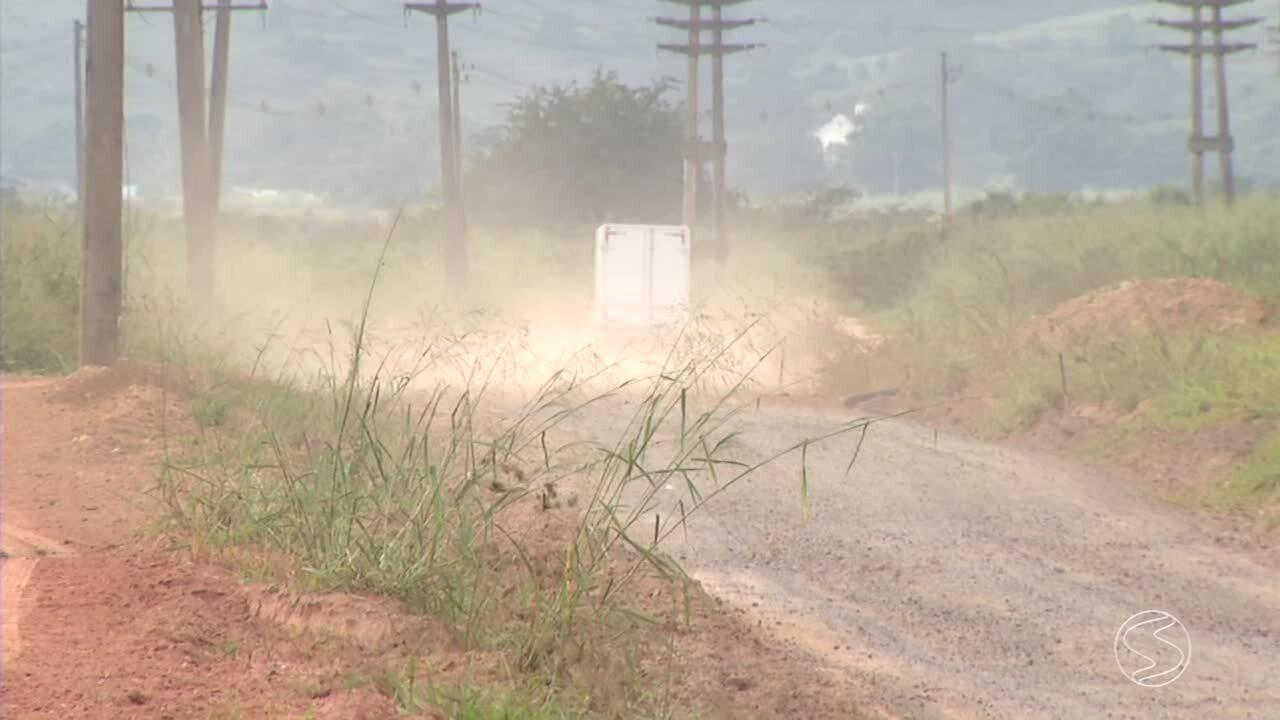 Estrada precária em Resende, RJ, causa transtorno para moradores e produtores rurais