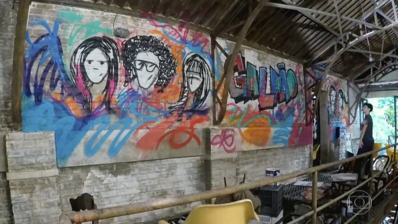 Gaspar Cohen, grafiteiro responsável, fala sobre o processo criativo dos grafites