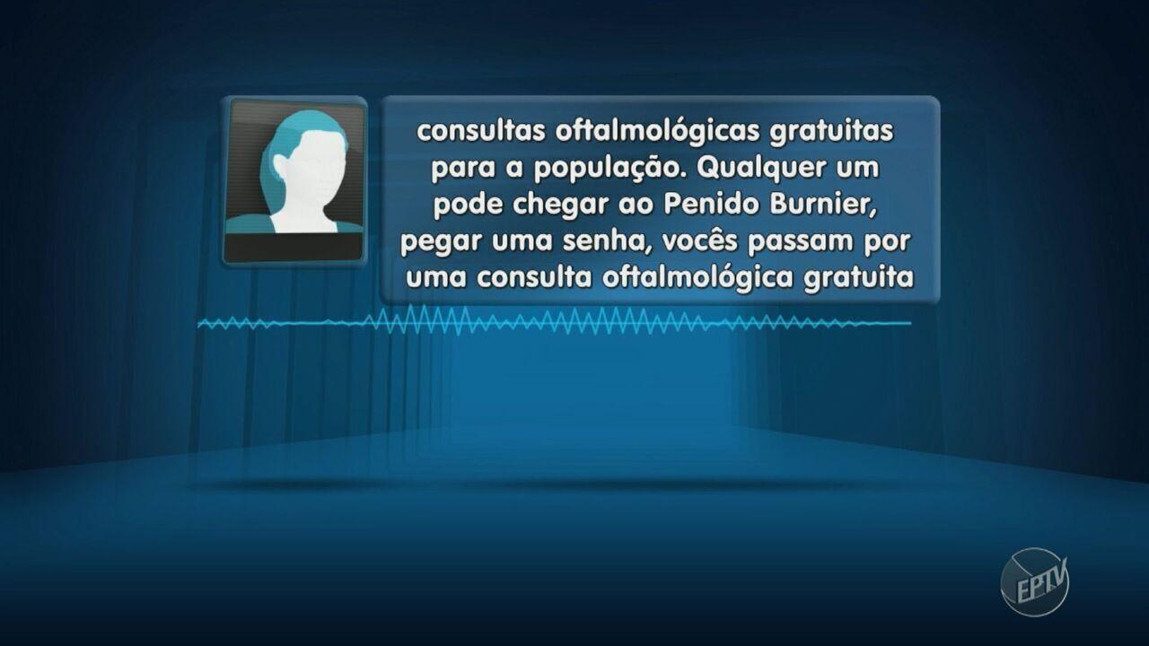 Áudio com informação errada de óculos grátis gera fila em hospital de Campinas
