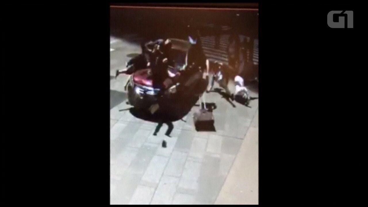Imagens mostram momento exato de atropelamento na Times Square em Nova York