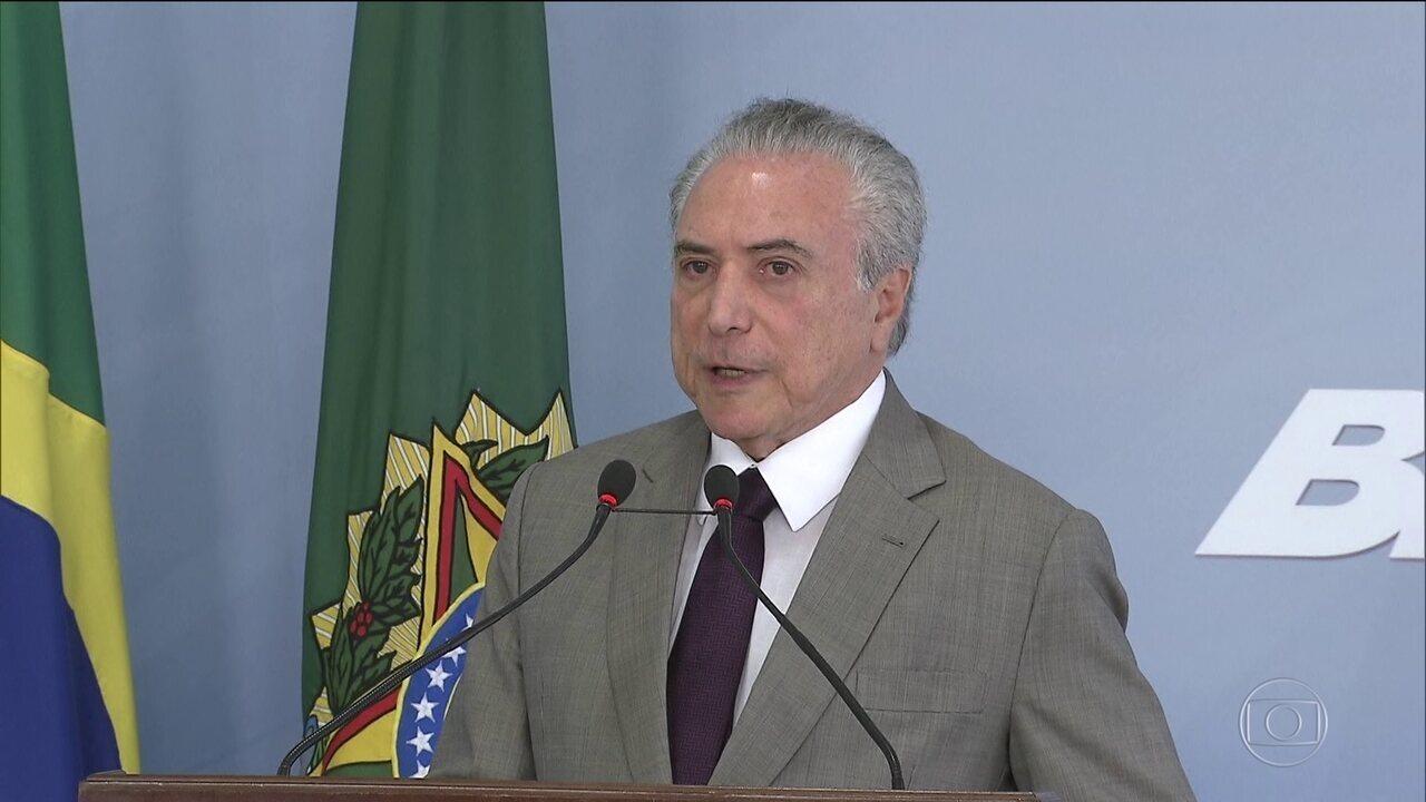 Presidente Temer está sendo investigado por três crimes