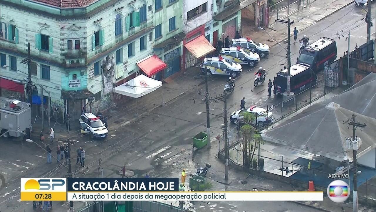 Polícia faz operação contra tráfico de drogas e Doria diz que Cracolândia 'acabou'