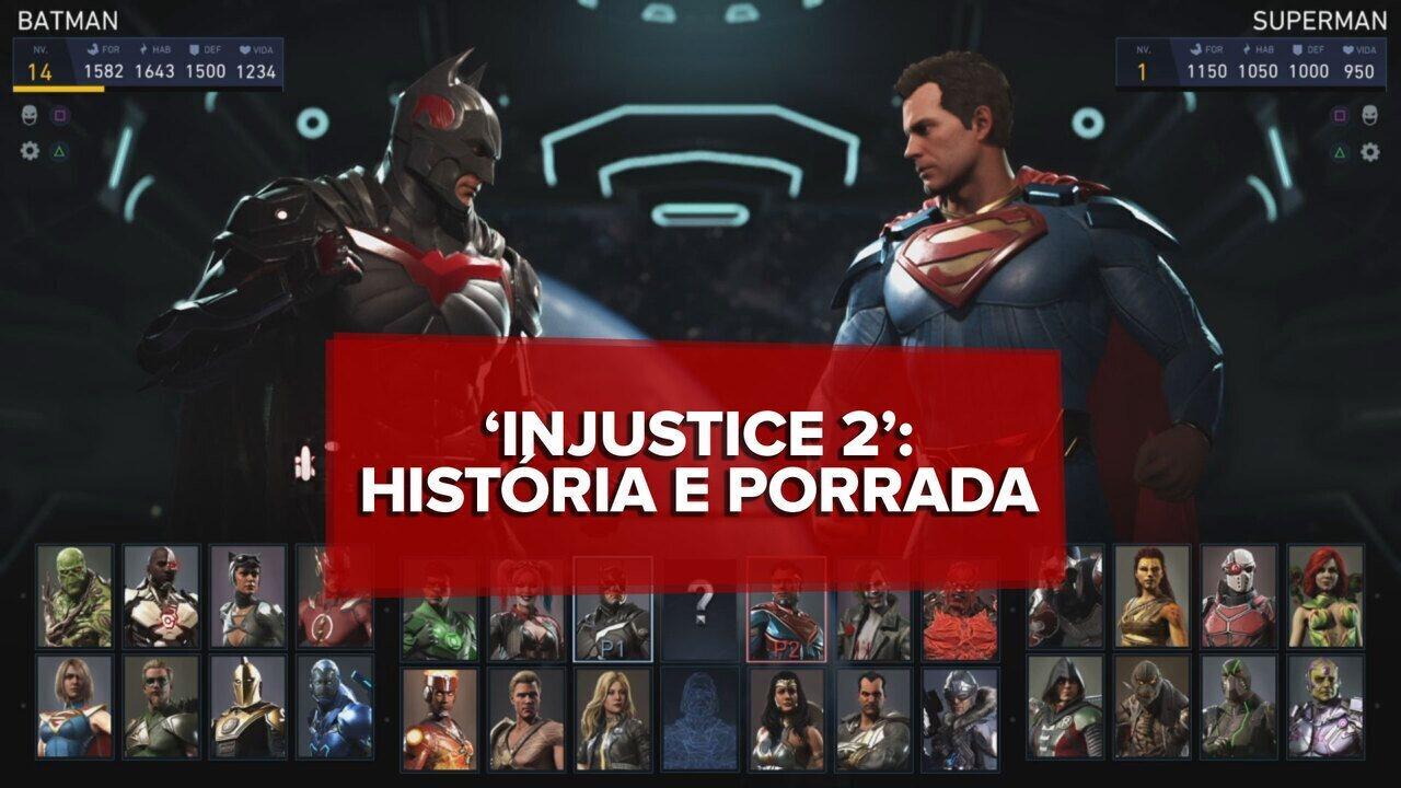 'Injustice 2' supera filmes da DC com porradaria e personalização