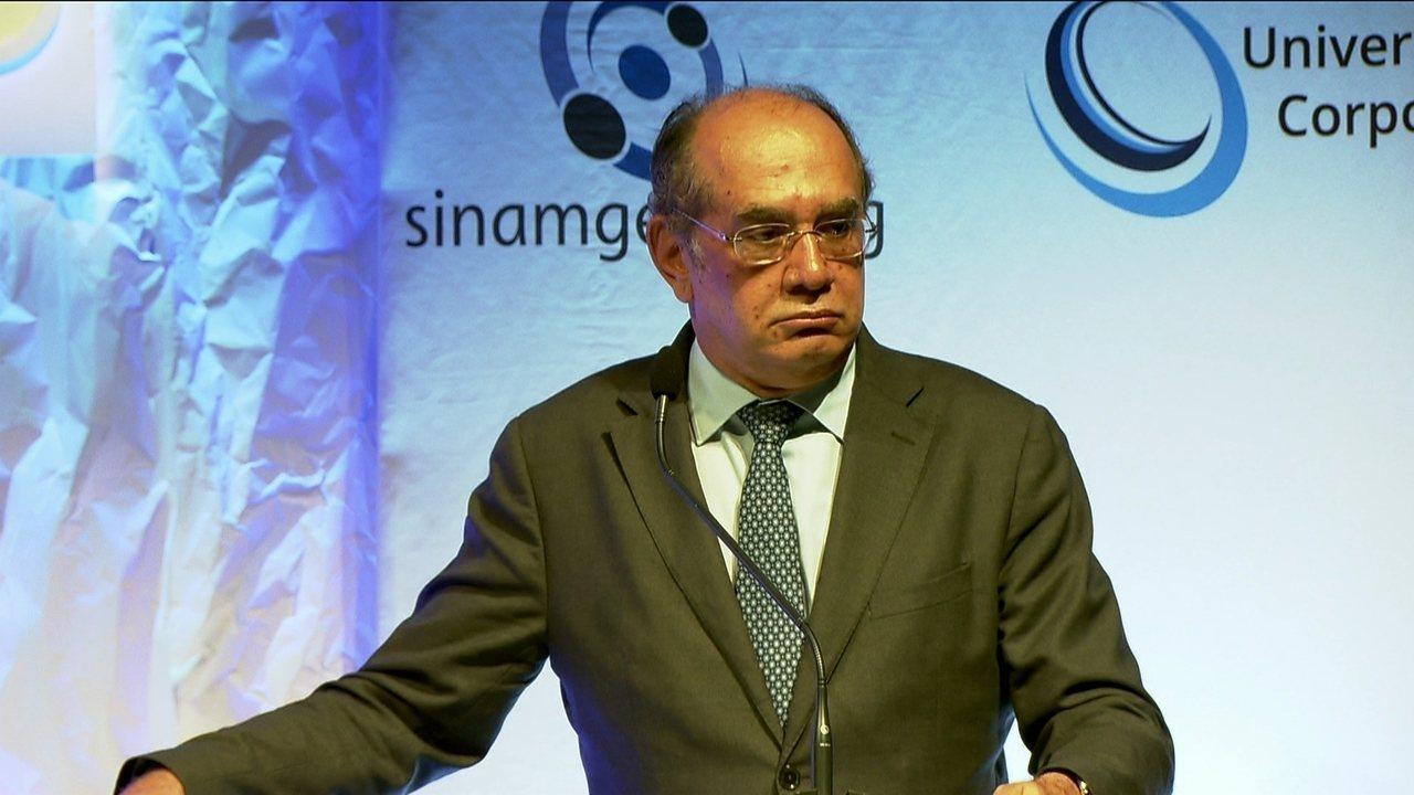 'O Brasil parece que se transformou numa grande Organização Tabajara', diz Gilmar Mendes