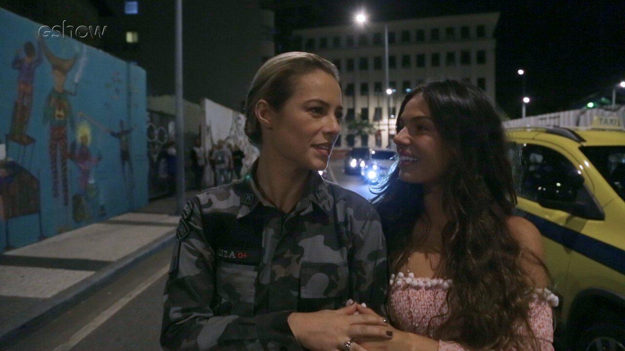 Paolla Oliveira e Isis Valverde mostram os bastidores do parto de Rita