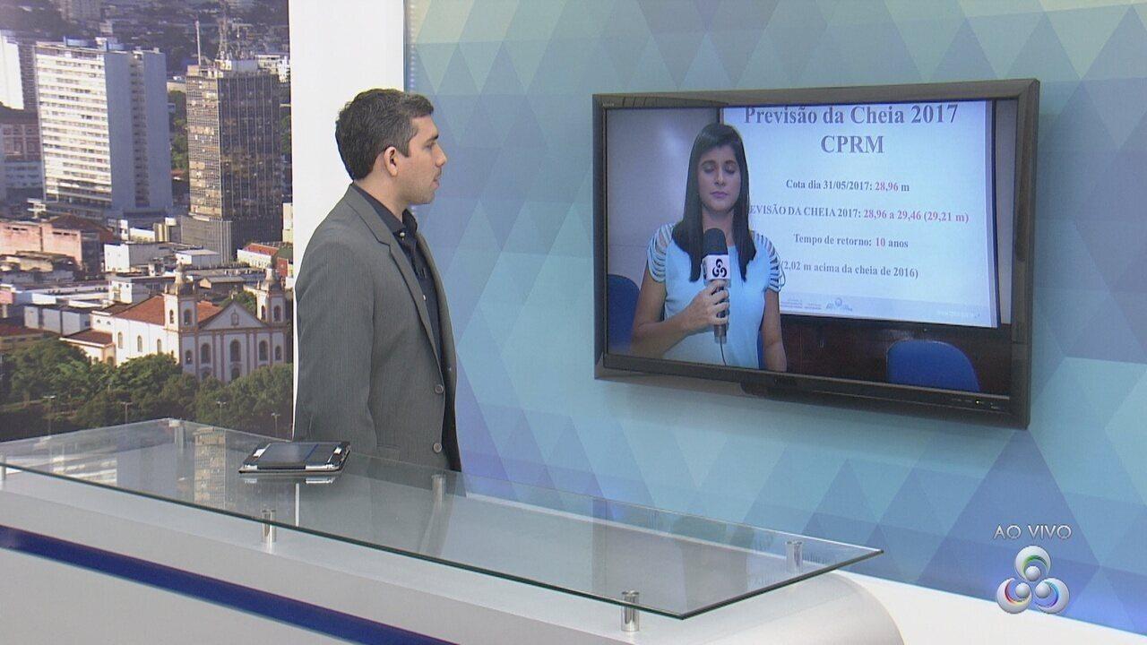 CPRM divulga terceiro alerta de cheia, em Manaus