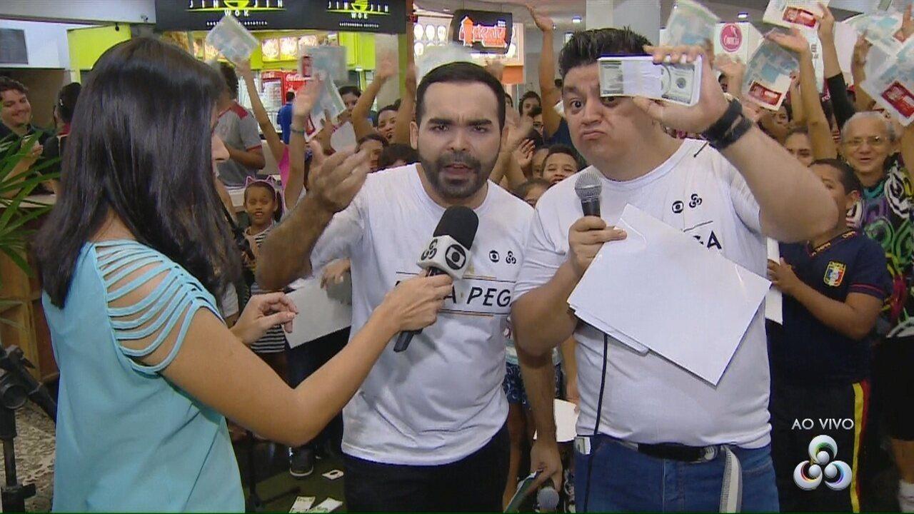 Rede Amazônica realiza ação de lançamento de 'Pega Pega'