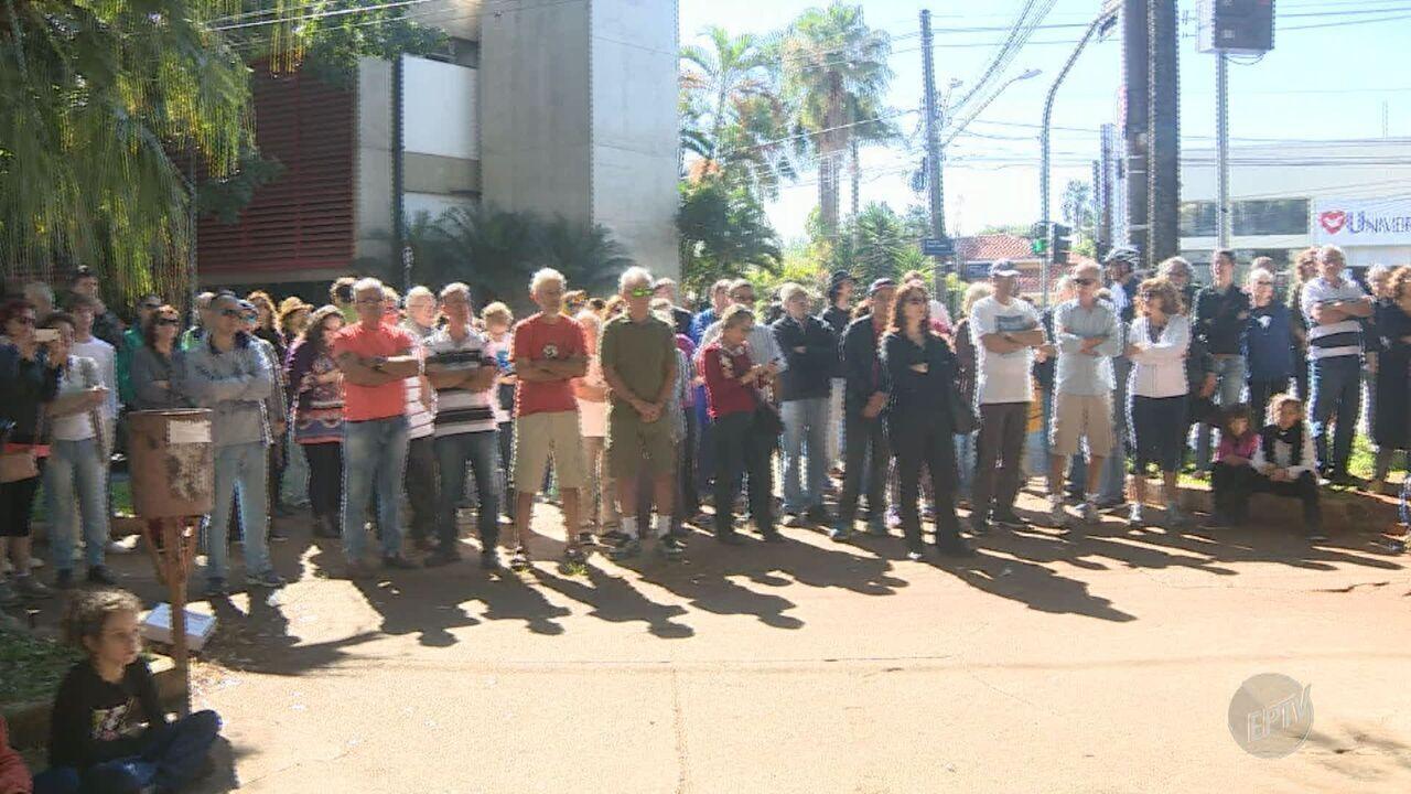 Moradores do distrito de Barão Geraldo protestam contra Plano Diretor de Campinas