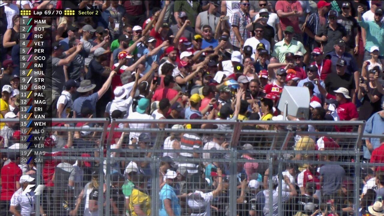 Fernando Alonso joga luvas para a torcida no GP do Canadá