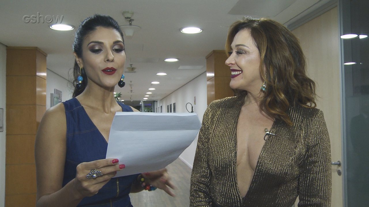 Claudia Raia fala sobre seus looks no Domingão do Faustão