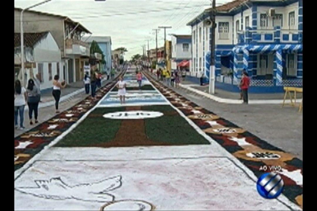 Cidade de Capanema mantém tradição dos tapetes de Corpus Christi