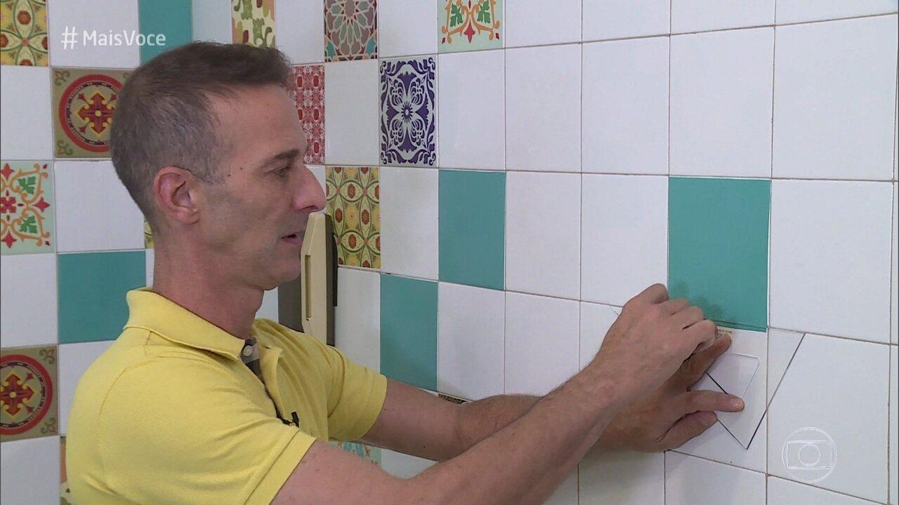 Mais voc marcelo darghan d dicas para aplicar adesivo - Como aplicar microcemento sobre azulejos ...