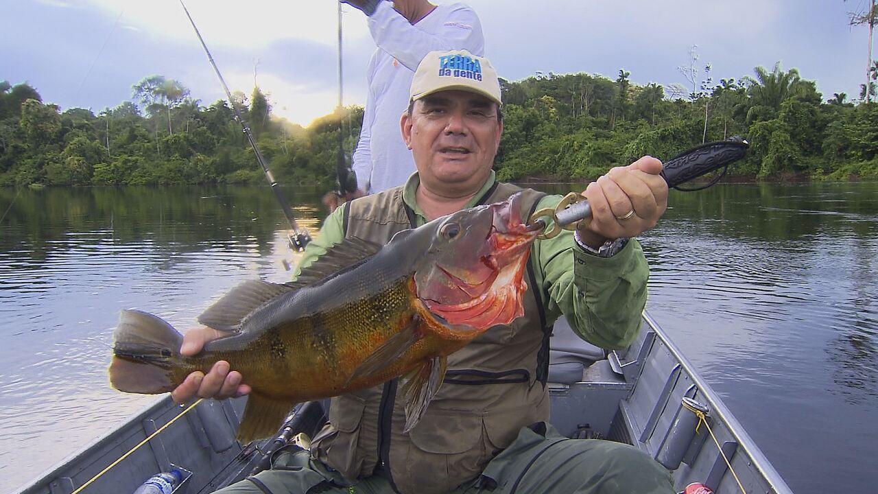Pescaria no rio São Benedito tem tucunarés