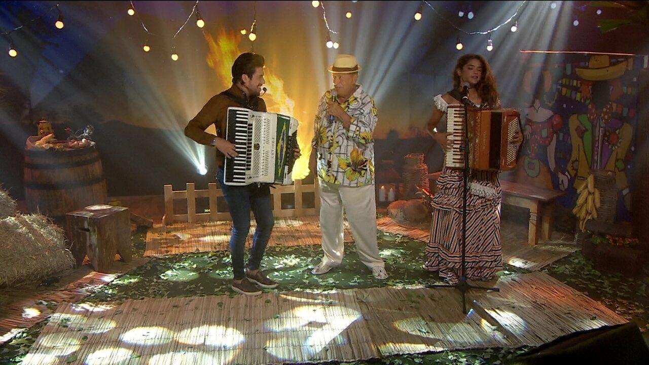 Arraiá do Fantástico reúne Genival, Lucy Alves e Luan Forró Estilizado