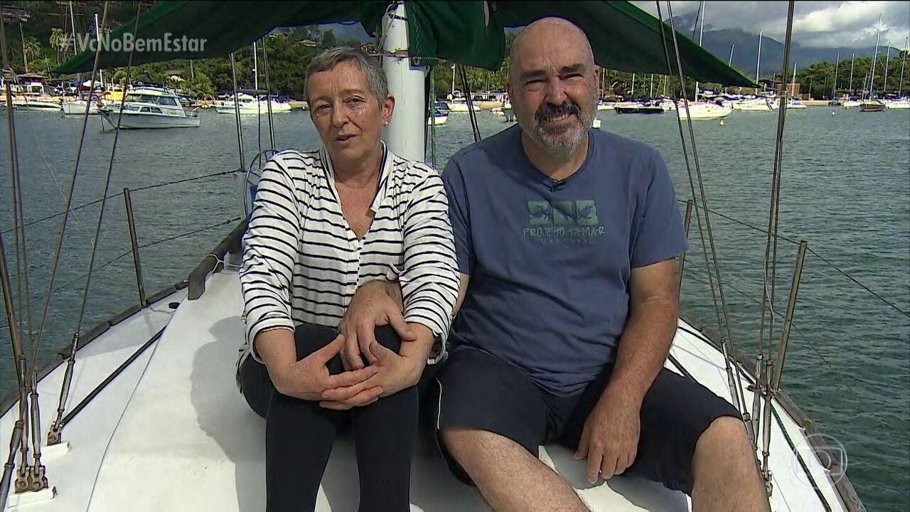 Casal enfrenta câncer com projeto de viajar a costa brasileira em um veleiro
