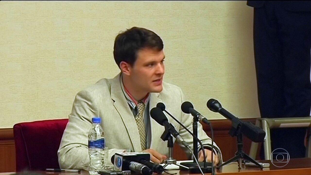 Morre nos EUA estudante americano que ficou preso na Coreia do Norte