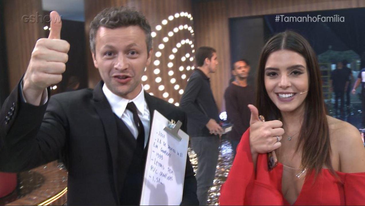 Giovanna Lancellotti e Lucas Lima testam seus conhecimentos sobre Sandy