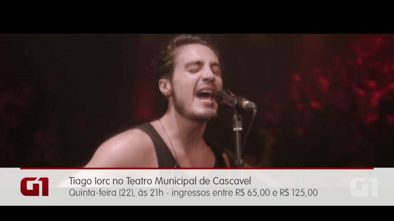 Tiago Iorc se apresenta em Cascavel e Toledo