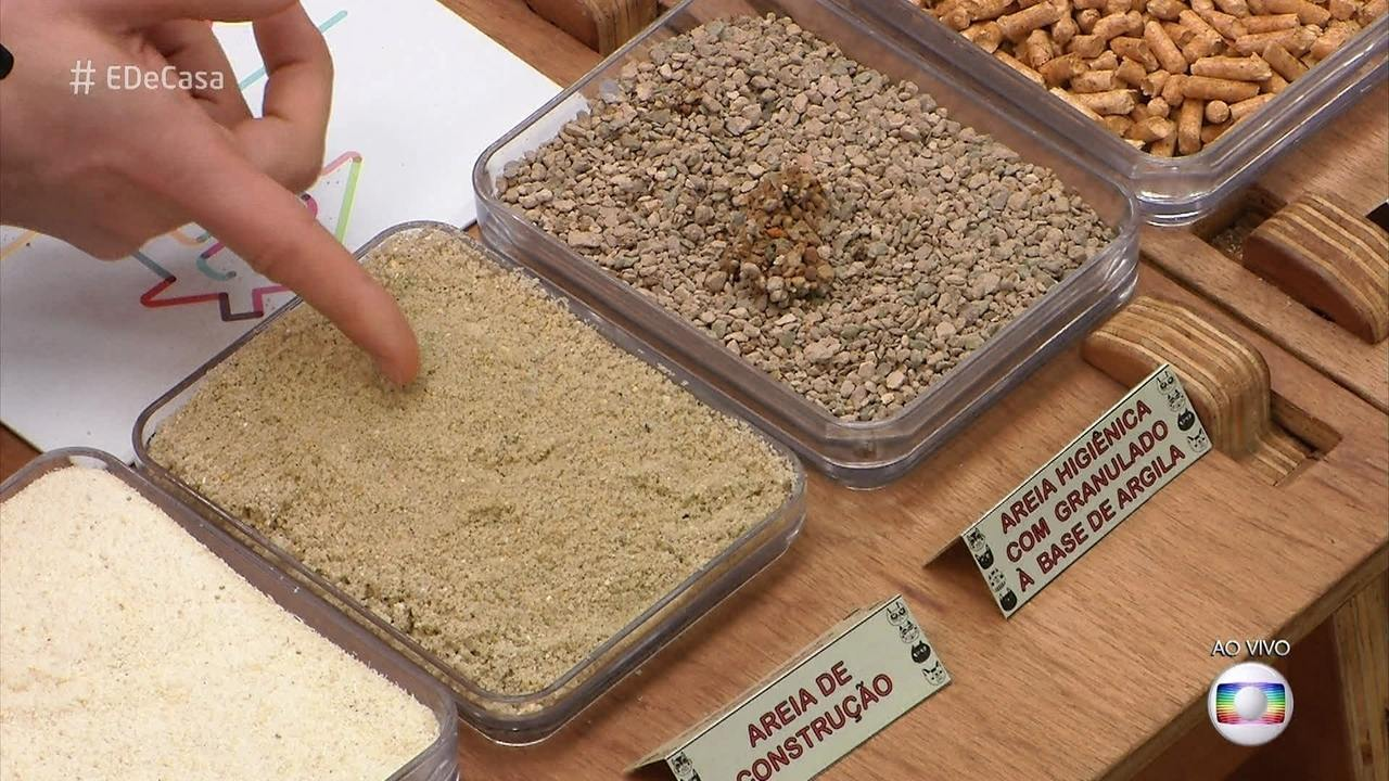 Alexandre Rossi mostra os principais tipos de areia sanitária para os gatos