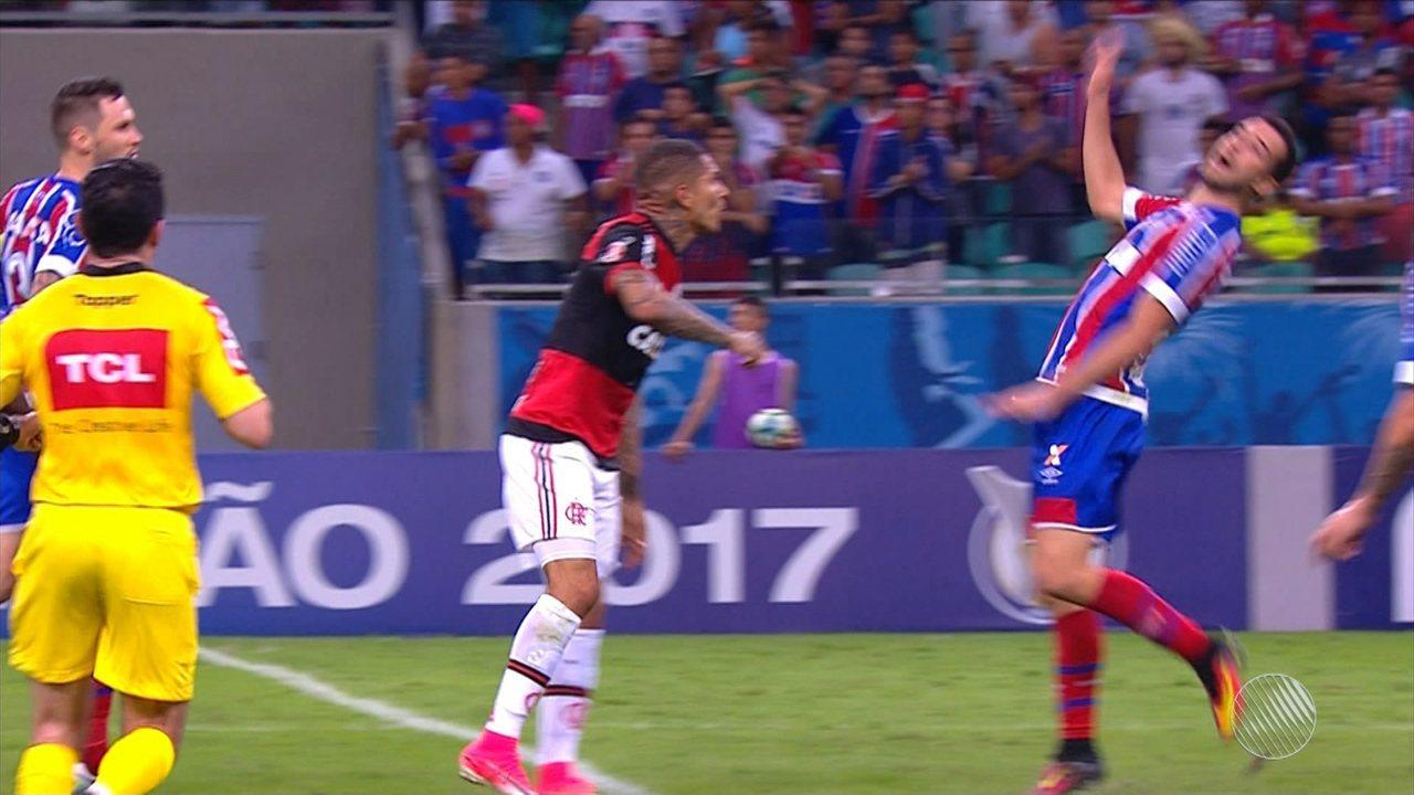 Lucas Fonseca é expulso em jogo contra o Flamengo e desfalca o Bahia para o clássico