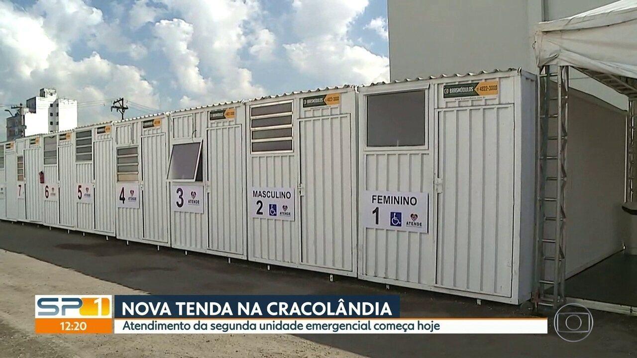 Cracolândia vai ganhar mais uma tenda para atender dependentes de drogas