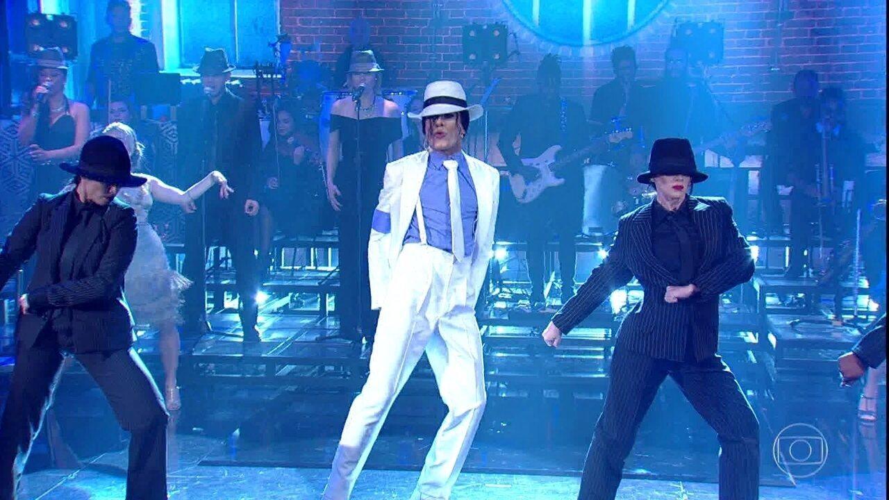 Ícaro Silva encarna Michael Jackson na final do 'Show dos Famosos'