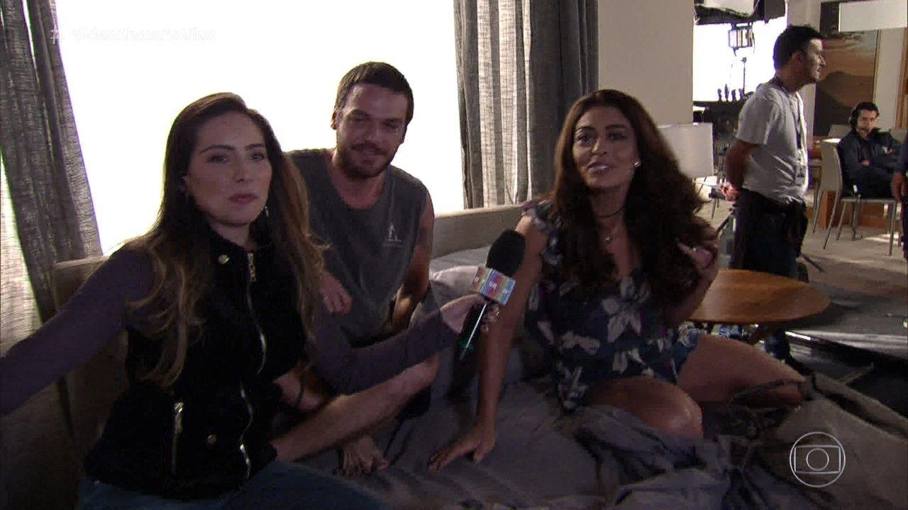 'Vídeo Show' conversou com Juliana Paes e Emilio Dantas