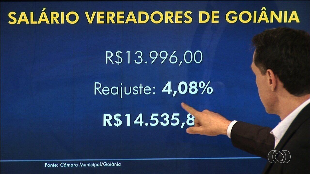 Vereadores aprovam aumento de 4% nos salários deles e dos servidores da Câmara de Goiânia