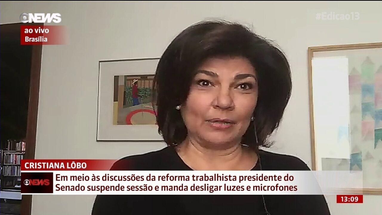 """""""Virou um grande evento da oposição"""", diz Cristiana Lôbo"""
