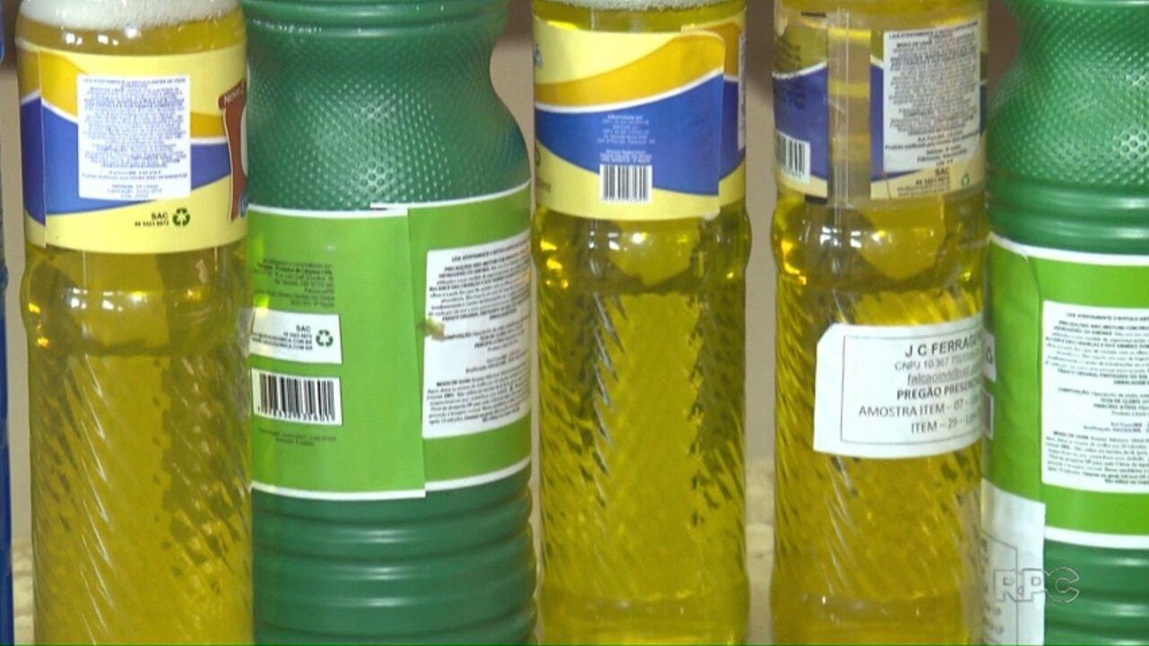 PM apreende produtos de limpeza irregulares que seriam entregues em creches de Maringá
