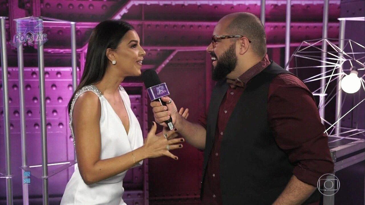 Mariana Rios e Fabiana Karla comemoram estreia no PopStar