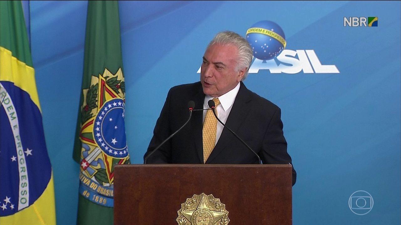 Temer anuncia pacote de projetos de infraestrutura de mais de R$ 12 bi