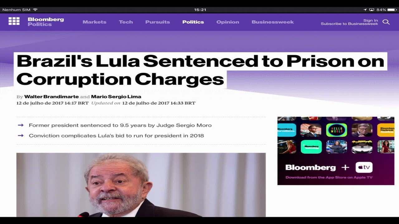Condenação do ex-presidente Lula repercute na imprensa internacional