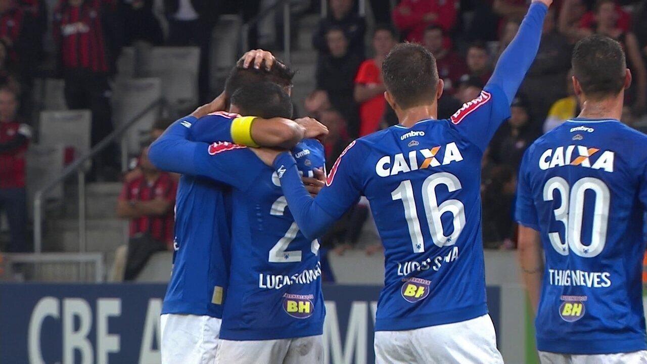 Os gols de Atlético-PR 0 x 2 Cruzeiro pela 13ª rodada do Campeonato Brasileiro