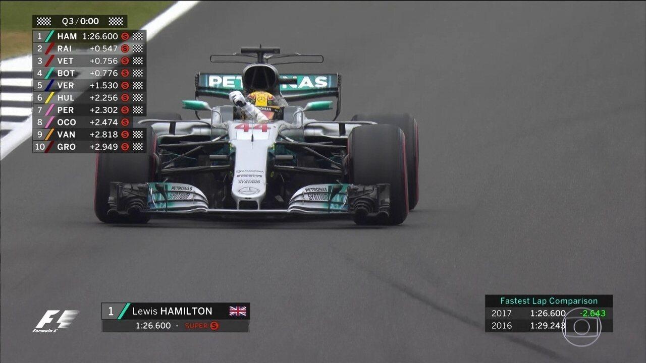 Lewis Hamilton faz a pole position para o GP de Silverstone
