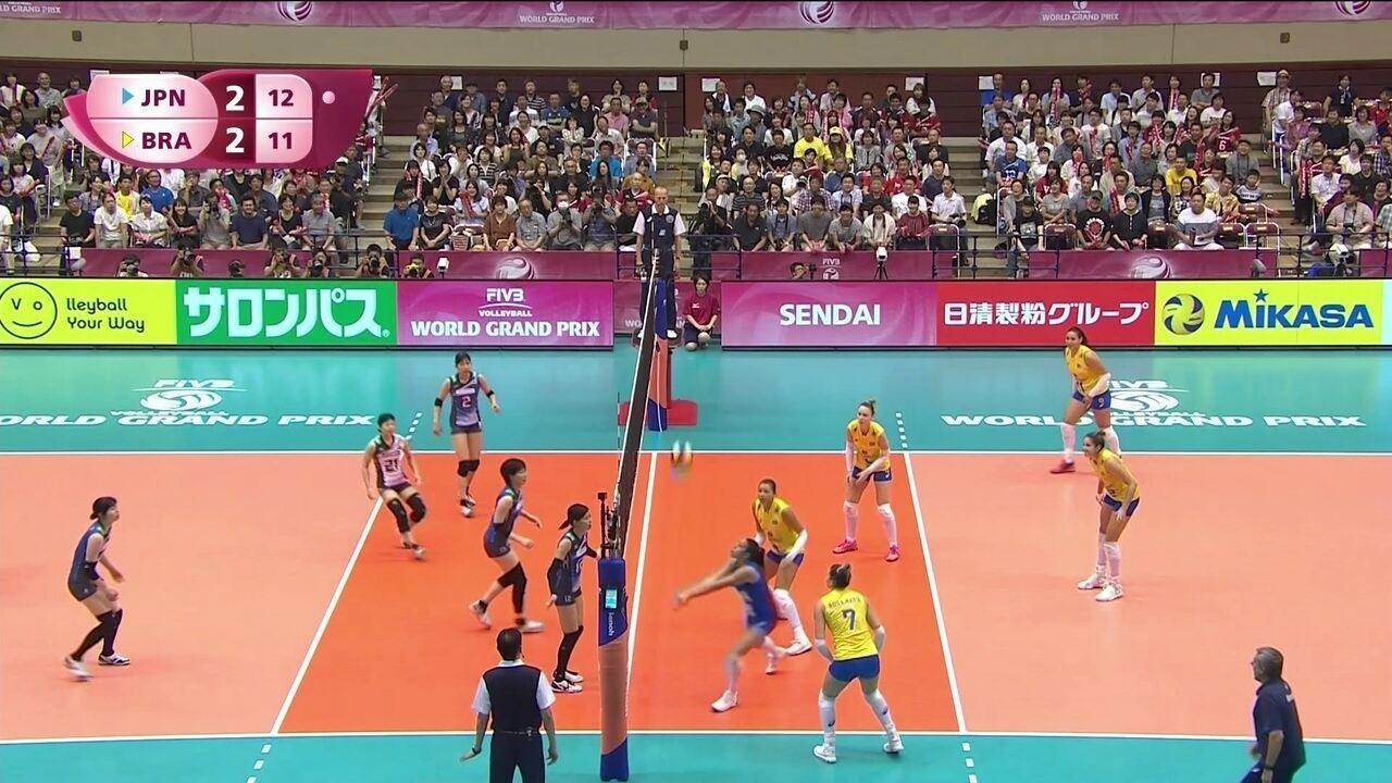 Melhores momentos: Japão 3 x 2 Brasil pelo Grand prix de vôlei