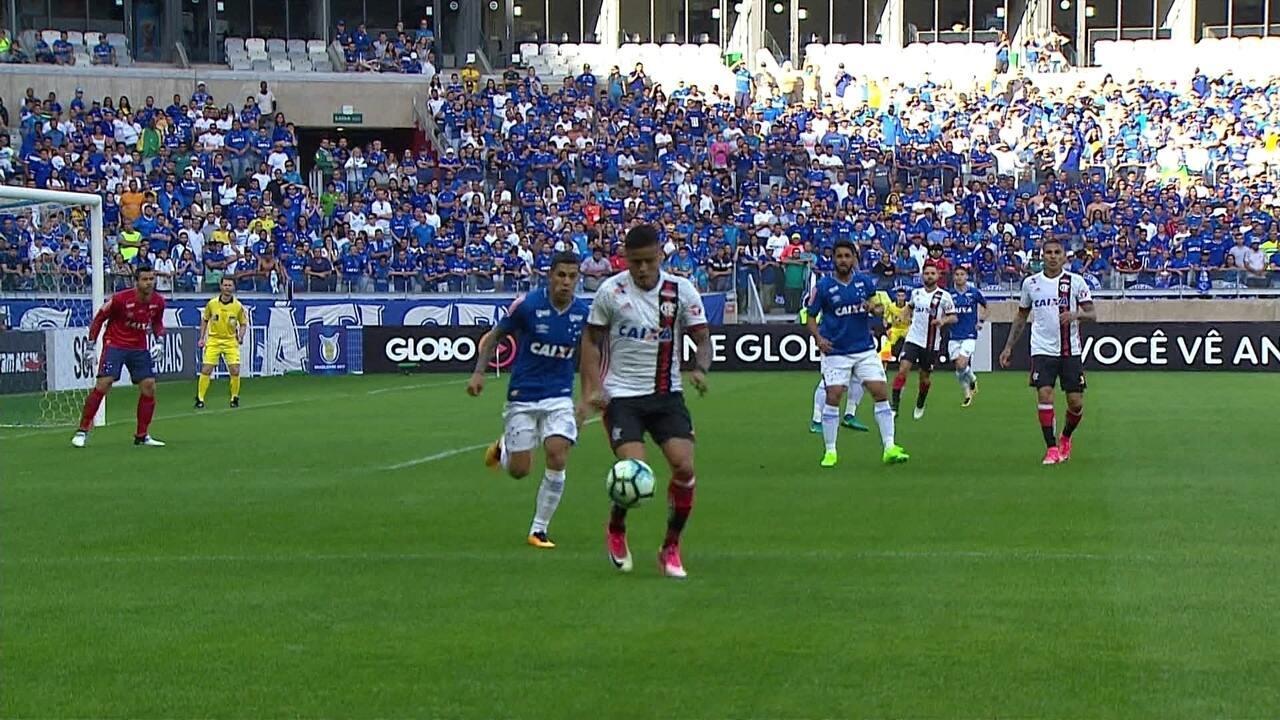 Melhores momentos de Cruzeiro 1 x 1 Flamengo pela 14ª rodada do Campeonato Brasileiro