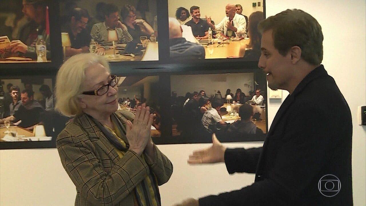 Fernanda Montenegro recebe homenagem de Edson Celulari