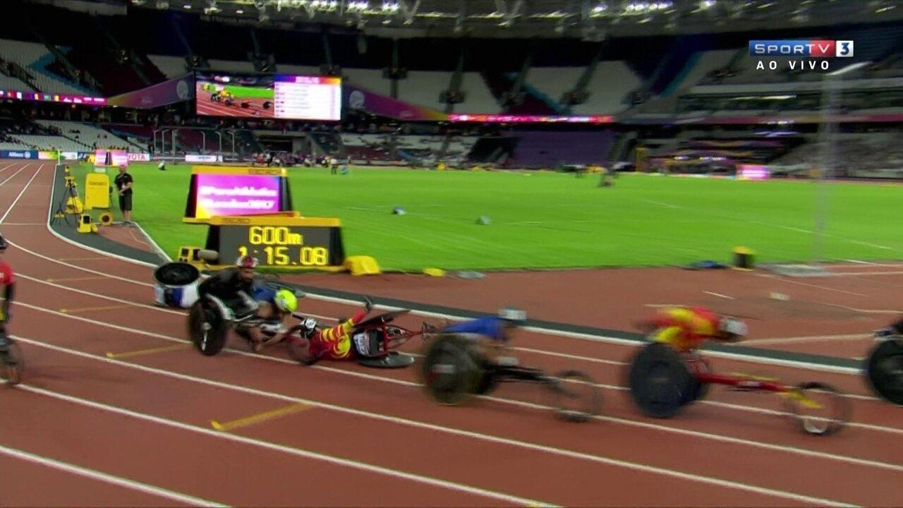 Acidente deixa quatro competidores pelo caminho no Mundial de atletismo paralímpico