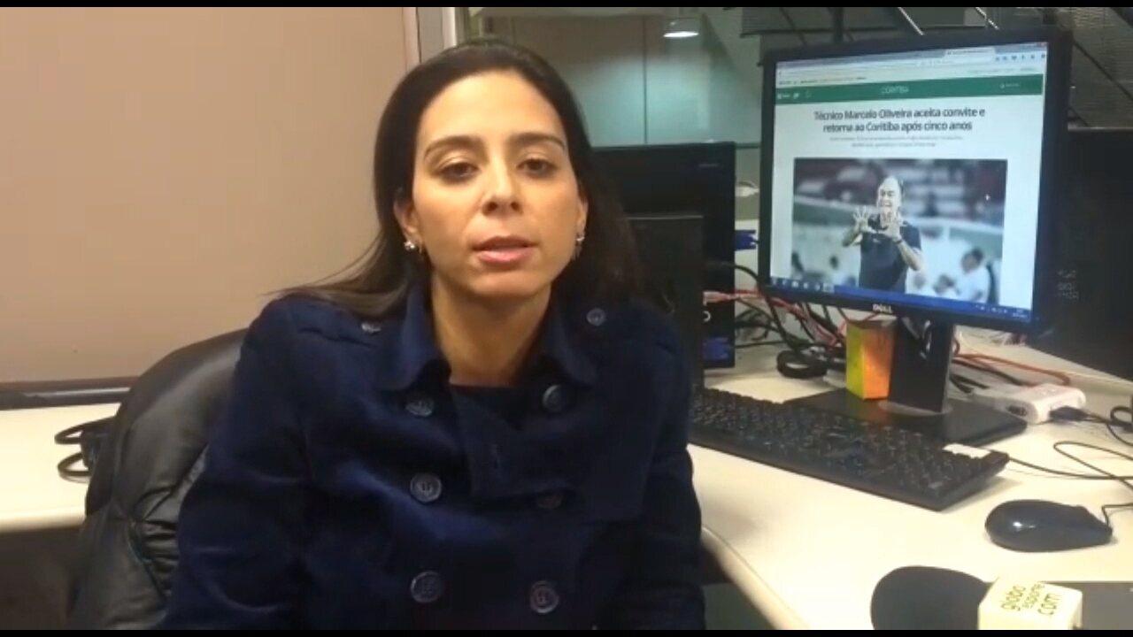 Confira os bastidores da vinda de Marcelo Oliveira ao Coritiba, com Nadja Mauad