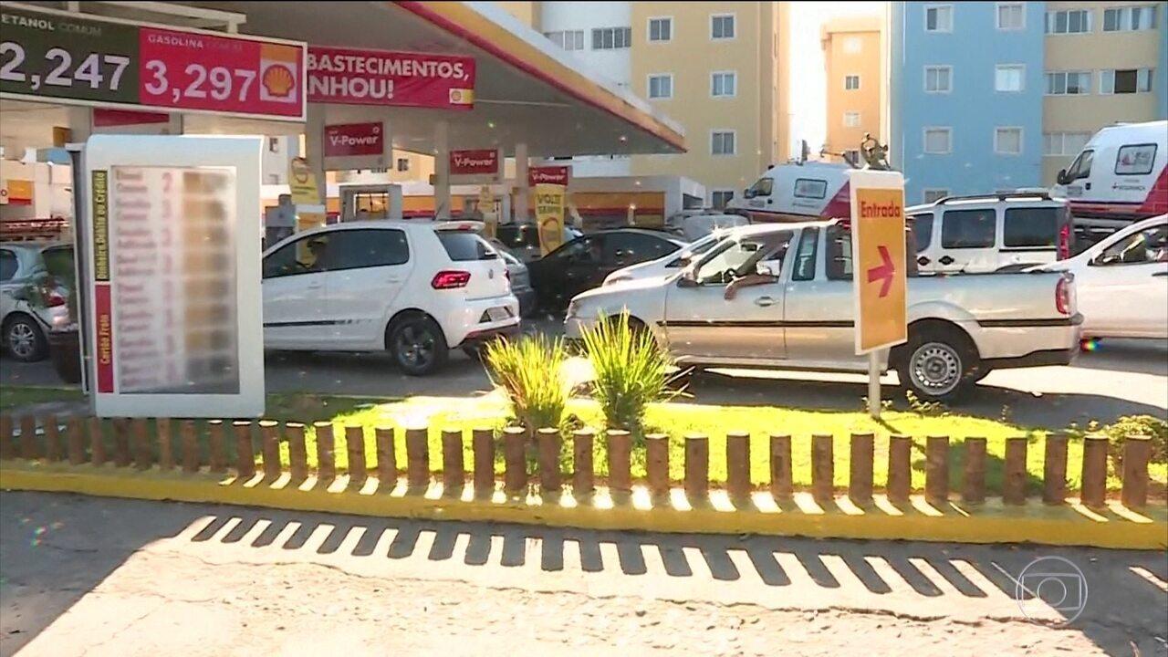 O preço da gasolina já subiu em postos pelo Brasil