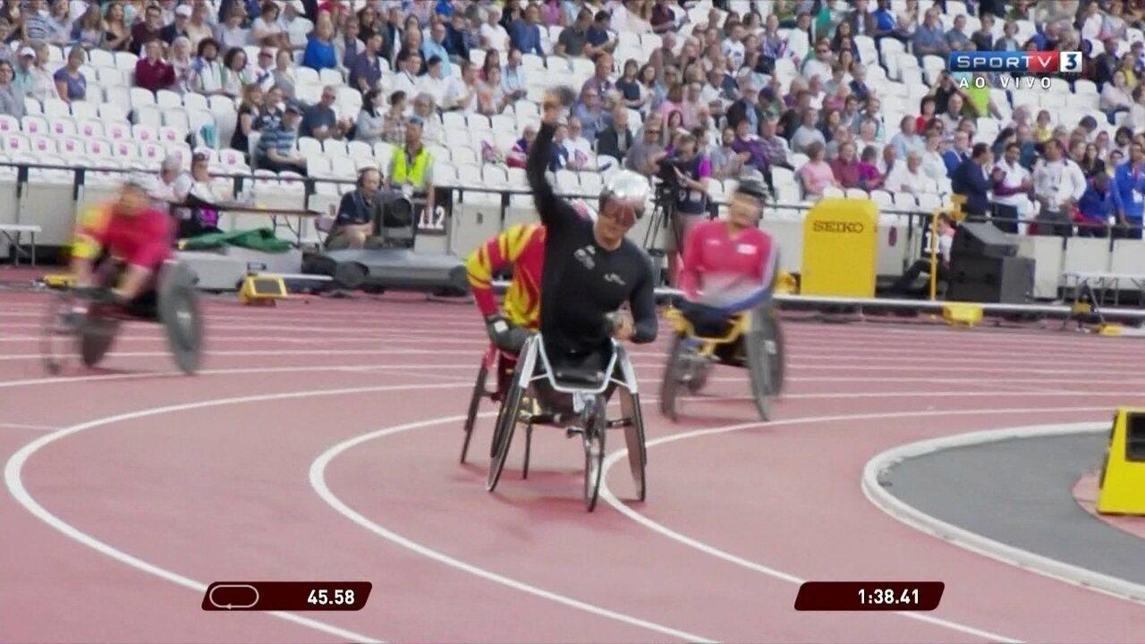 Suíço conquista ouro nos 800m T54 para cadeirantes no Mundial de atletismo paralímpico
