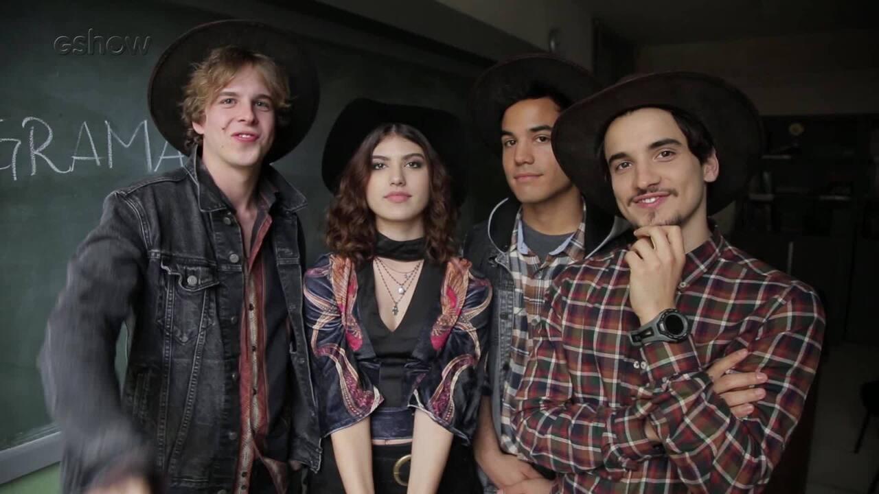 Vinícius Wester, Giovanna Grigio, Bruno Gadiol e Gabriel Calamari comentam preparação para show de banda
