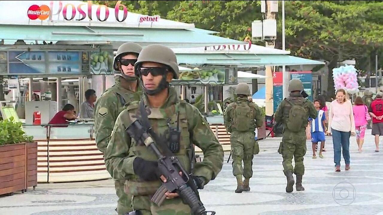 Mais de dez mil militares reforçam a segurança no Rio