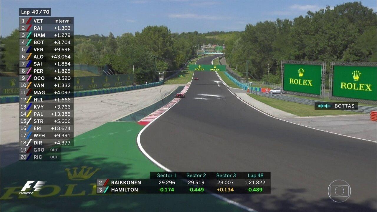 Mercedes garante a Bottas que Hamilton vai devolver a posição, caso não passe a Ferrari