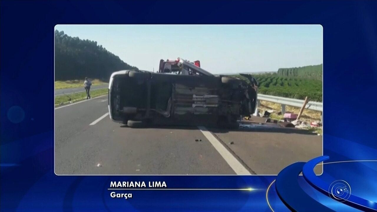 Duas pessoas morrem em acidentes em rodovia na região de Marília