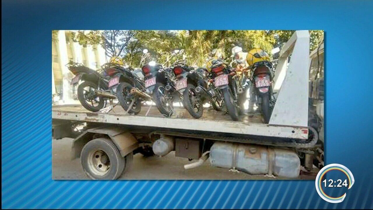 Mototaxistas voltaram a protestar em Taubaté