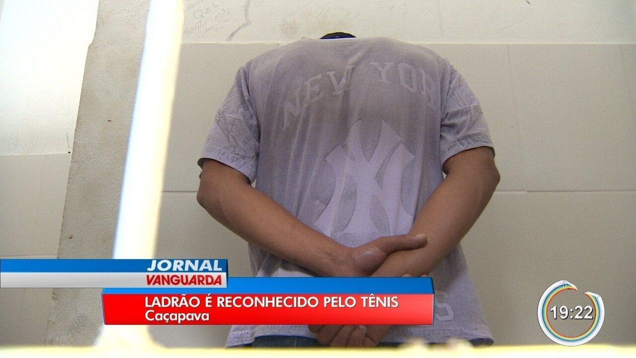 Um par de tênis azul ajudou a polícia a esclarecer série de assaltos em Caçapava