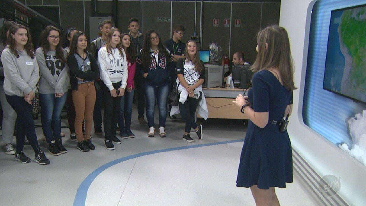 Alunos visitam emissora na 18ª edição do EPTV na Escola