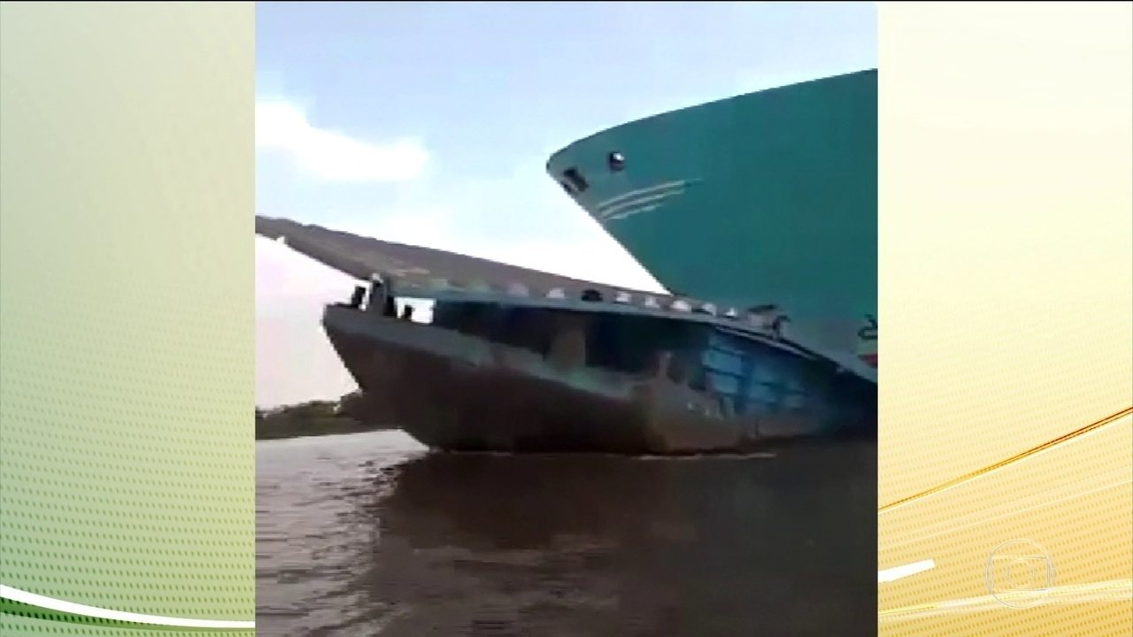 Rebocador afunda no Rio Amazonas próximo ao município de Óbidos, no PA